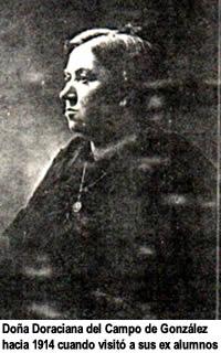 Doña Doraciana del Campo de González