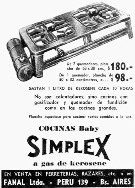 Anuncio comercial (revista Mucho Gusto, año 1948)