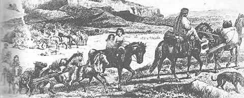 Indios a caballo